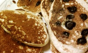 blueberry pancakes too