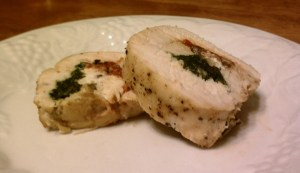 Chicken Stuffed with Goat Cheese and Red Pepper Tapenade