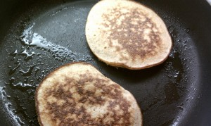 Nut Butter Pancakes in Pan