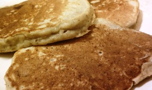 Kevin's Oatmeal Whole Wheat Pancakes on plate