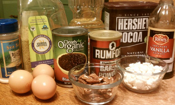 Black Bean Brownie Ingredients