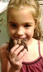 Child Eating Black Bean Brownie