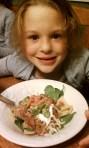 Girl with Taco Salad