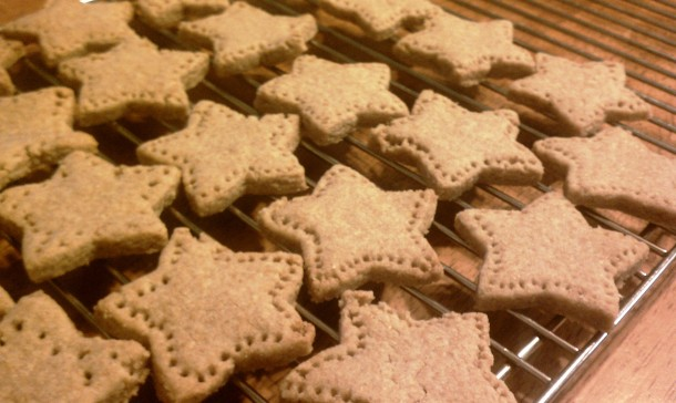 Whole Wheat Orange Shortbread Stars