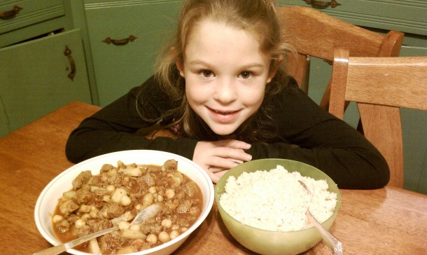 Julia with her Tagine and Couscous