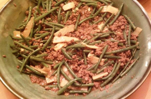 Gingery Beef and Green Bean Stir Fry