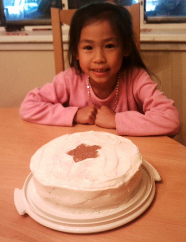 Kid with Banana Cake