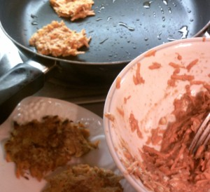 Sweet Potato Patties - Preparation
